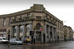 Airdrie Savings Bank on Stirling Street, has finally fallen victim to the 2008 financial crash