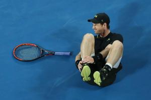 Andy Murray is struggling after he injured his ankle playing against Andrey Rublev