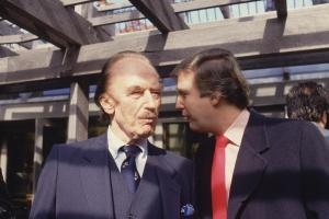 Donald Trump and his father Fred during the 1980s