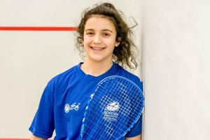 Georgia Adderley competes for Scotland at both squash and football  Photograph: Roberts Sports