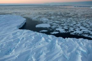 Nasa reported that the Earth's poles are at a record low in terms of sea-ice levels. Photograph: Getty