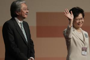 John Tsang, left, was defeated by Carrie Lam, right, who is seen as China's candidate