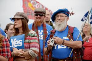 Among 2014 Yes voters who voted Leave, only 65 per cent are still Yes
