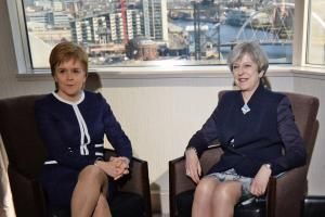 Nicola Sturgeon and Theresa May met in a Glasgow and the First Minister said she was 'at pains' to clarify the Prime Minister's assurances on timescales