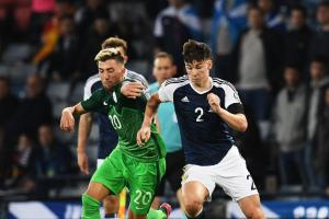Scotland's Kieran Tierney slotted easily into a right-back role against Slovenia on Sunday night