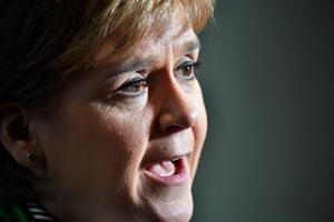 Nicola Sturgeon said Scotland has a choice between hard Brexit and independence. Photograph: Jeff J Mitchell/PA