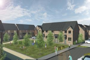 An artist's impression of the proposed new homes