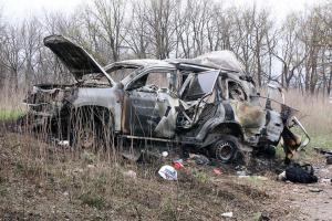 A member of the OSCE's monitoring mission to Ukraine has died after his car blew up near the village of Prishib