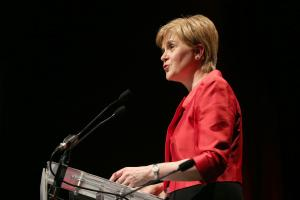 The SNP leader was addressing the STUC conference at Aviemore
