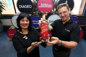 UK City of Culture 2021 bid director Jean Cameron and operations director at Diageo Shieldhall Gavin Brogan