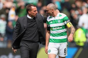 Brendan Rodgers is delighted to be able to call upon skipper Scott Brown for tomorrow's game at Ibrox