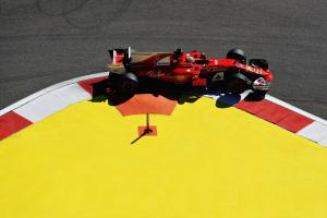 Ferrari's Sebastian Vettel posted the fastest times during yesterday's practice for the Russian Grand Prix
