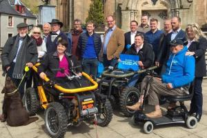 Ruth Davidson tries out an all-terrain wheelchair that lets disabled people explore 'off-road'