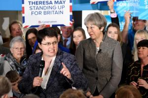 Ruth Davidson, left, and Theresa May, right, have been campaigning together in Scotland ahead of the UK General Election