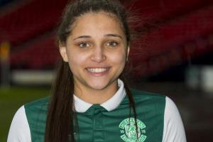Abi Harrison's lat goal sent Hibs to the final