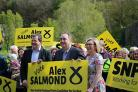 Alex Salmond launches his re-election campaign at Ellon yesterday