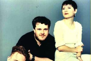 The Cocteau Twins' Simon Raymonde, Robin Guthrie and Elizabeth Fraser, pictured in 1983, a year before their classic Treasure album