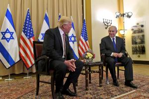 Trump met with Israeli prime minister Benjamin Netanyahu on his first foreign trip since taking office in January