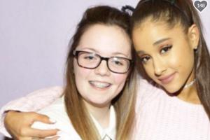 Georgina Callander pictured with Ariana Grande at a previous concert in 2015