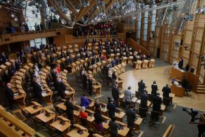 MSPs observe a minute's silence for the Manchester bomb victims
