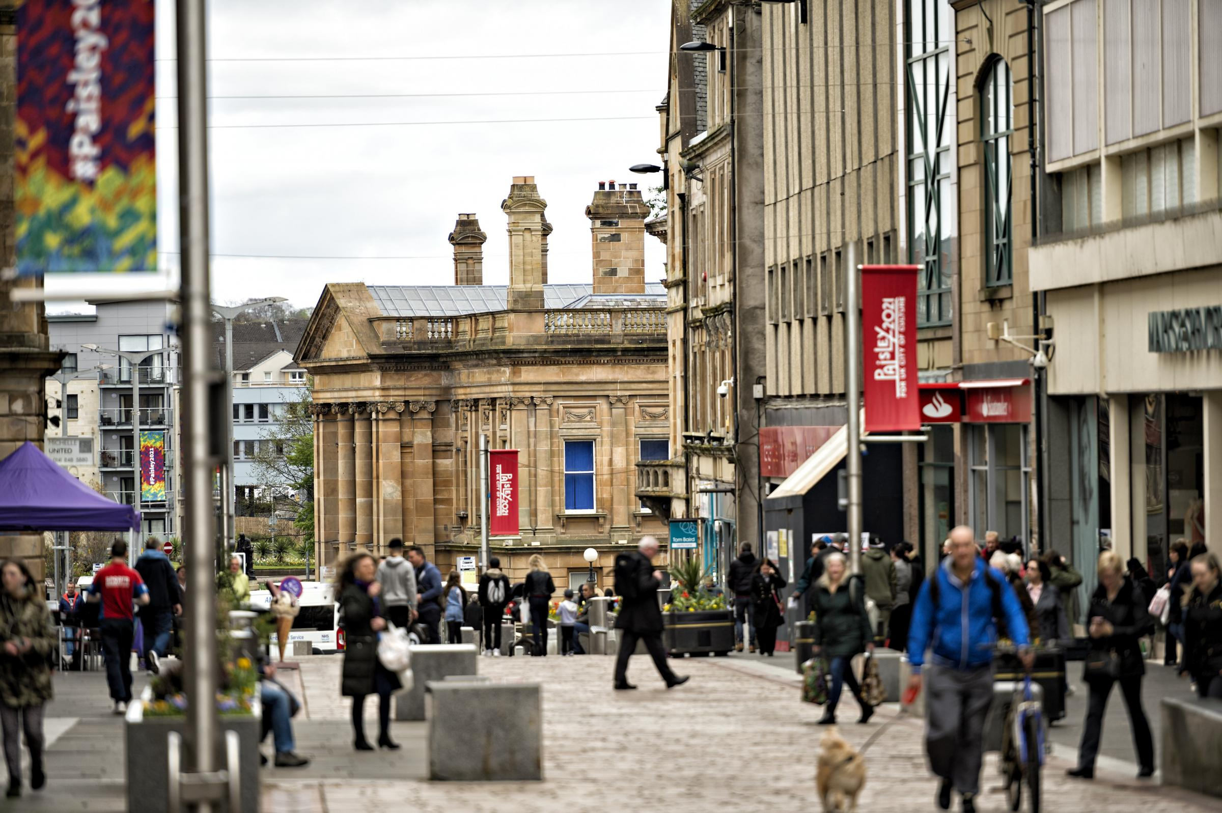 Town centres such as Paisley's could be helped by changes to the rates system Photograph: Jamie Simpson