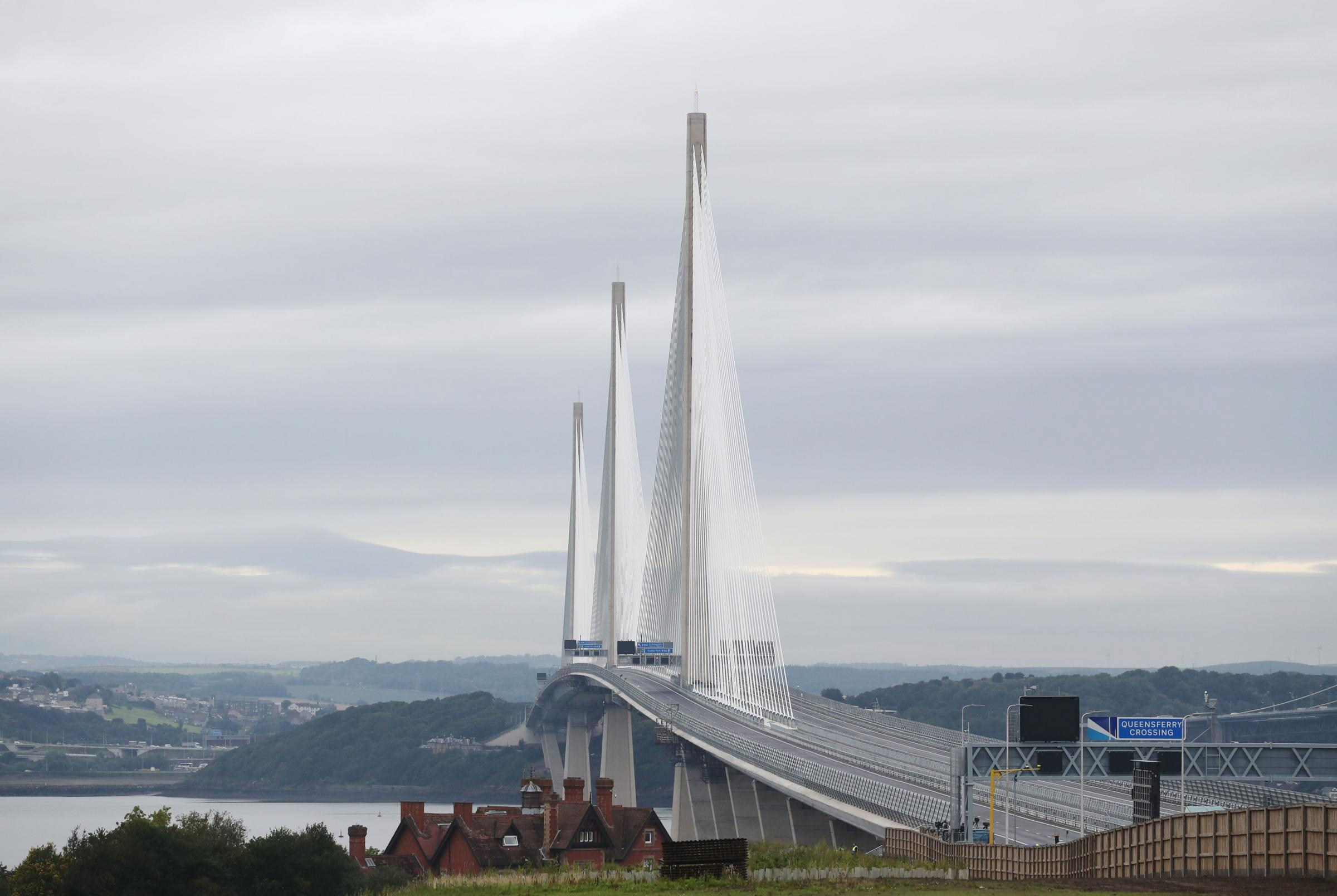 Incredible feat ... and the rest is not bad either. The new Queensferry Crossing