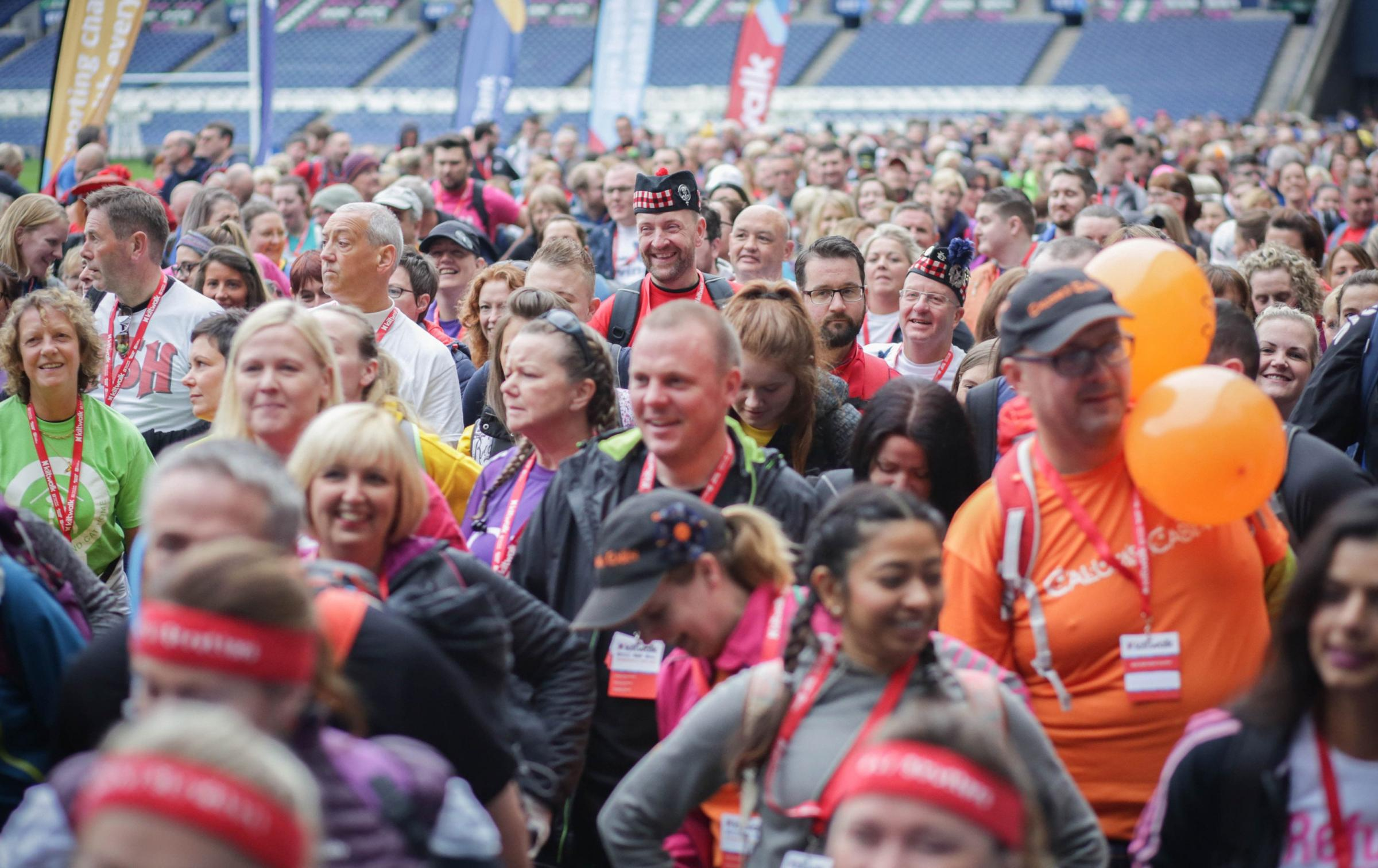 Some 14,000 fundraisers participated in the four Royal Bank of Scotland Kiltwalks in Glasgow, Aberdeen, Dundee and Edinburgh
