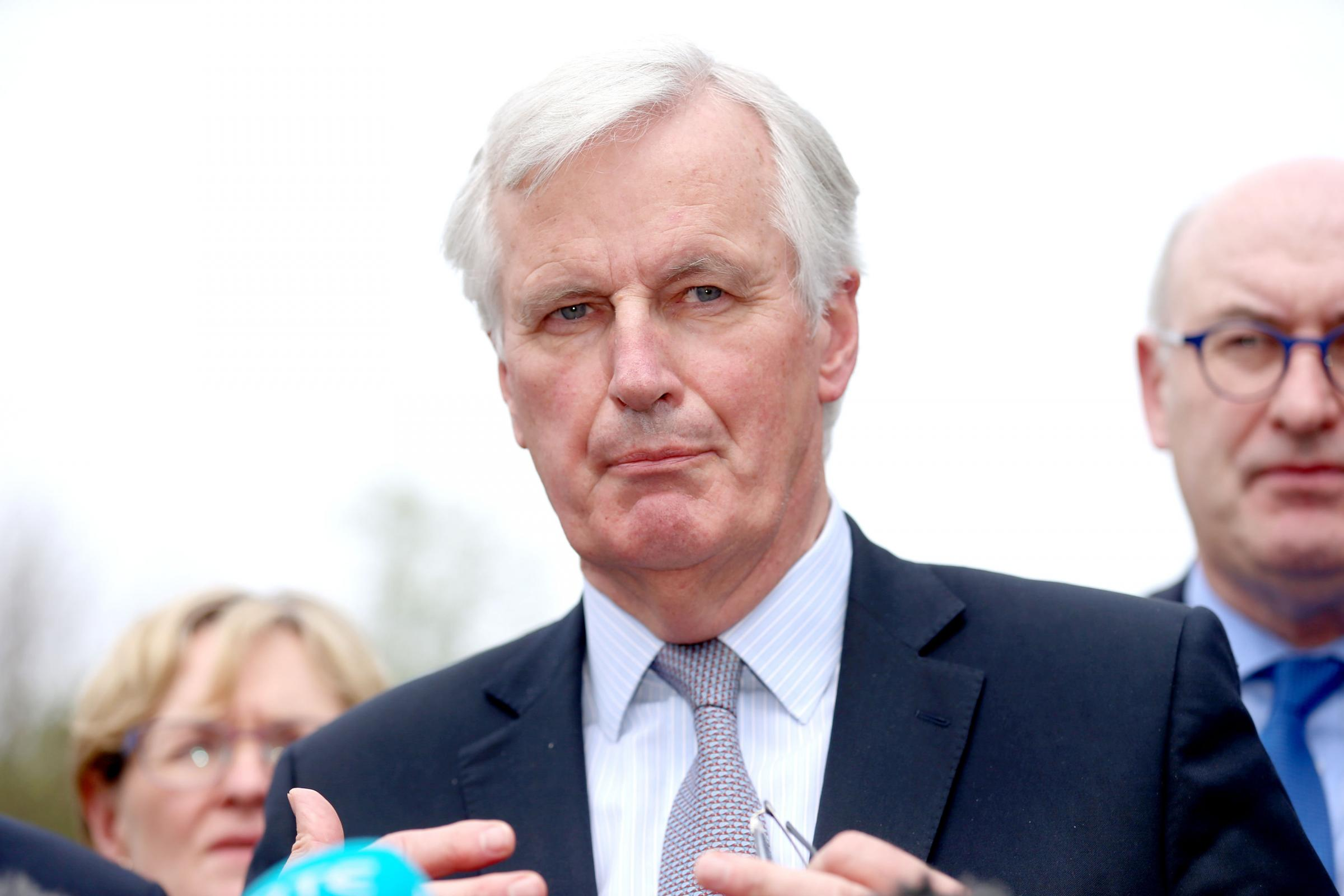 Contrast: EU chief negotiator Michel Barnier has taken a determined and steady position