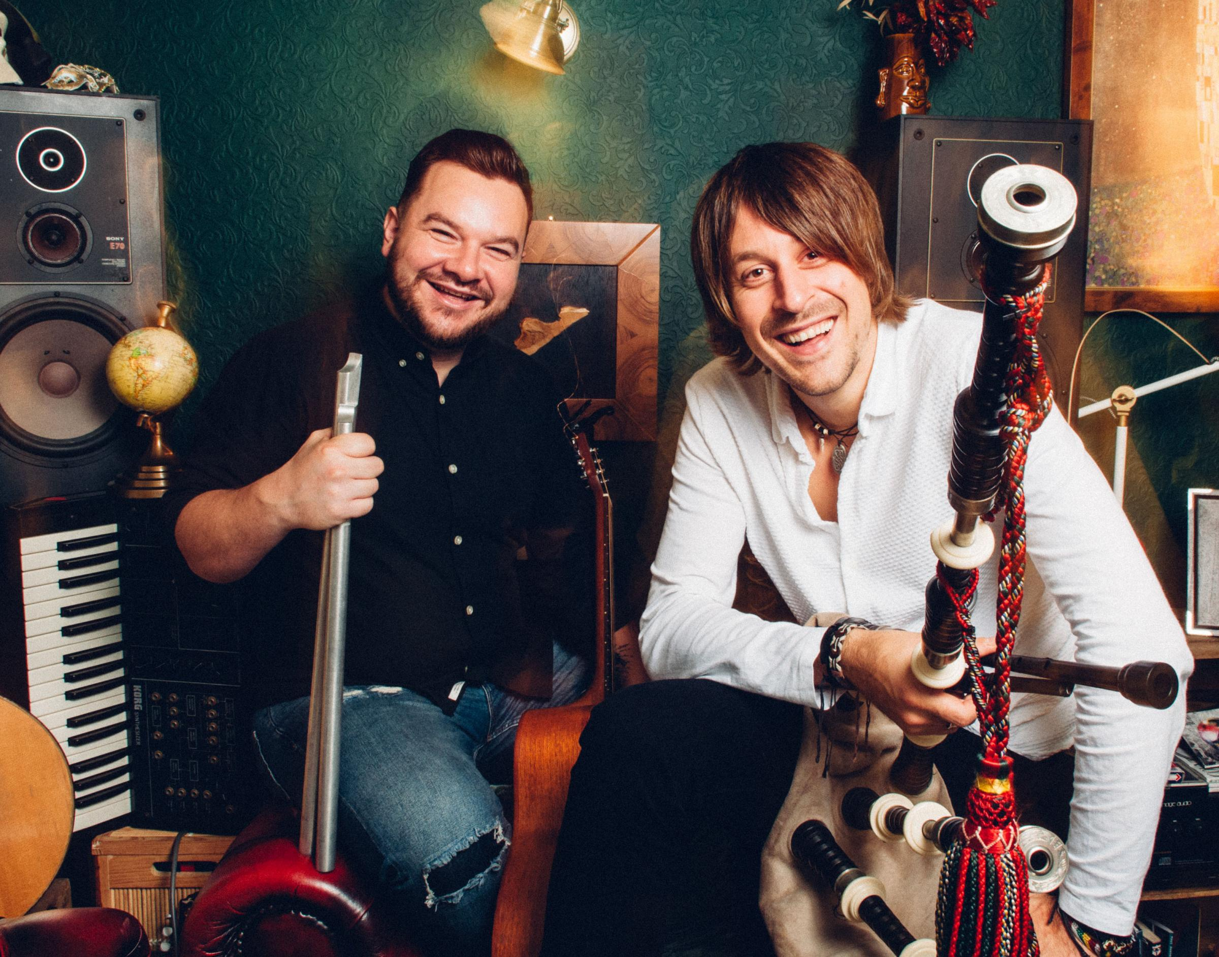 Ross Ainslie and Ali Hutton are multi-instrumentalists