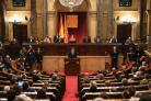 President Carles Puigdemont addressed the Catalan Parliament in Barcelona