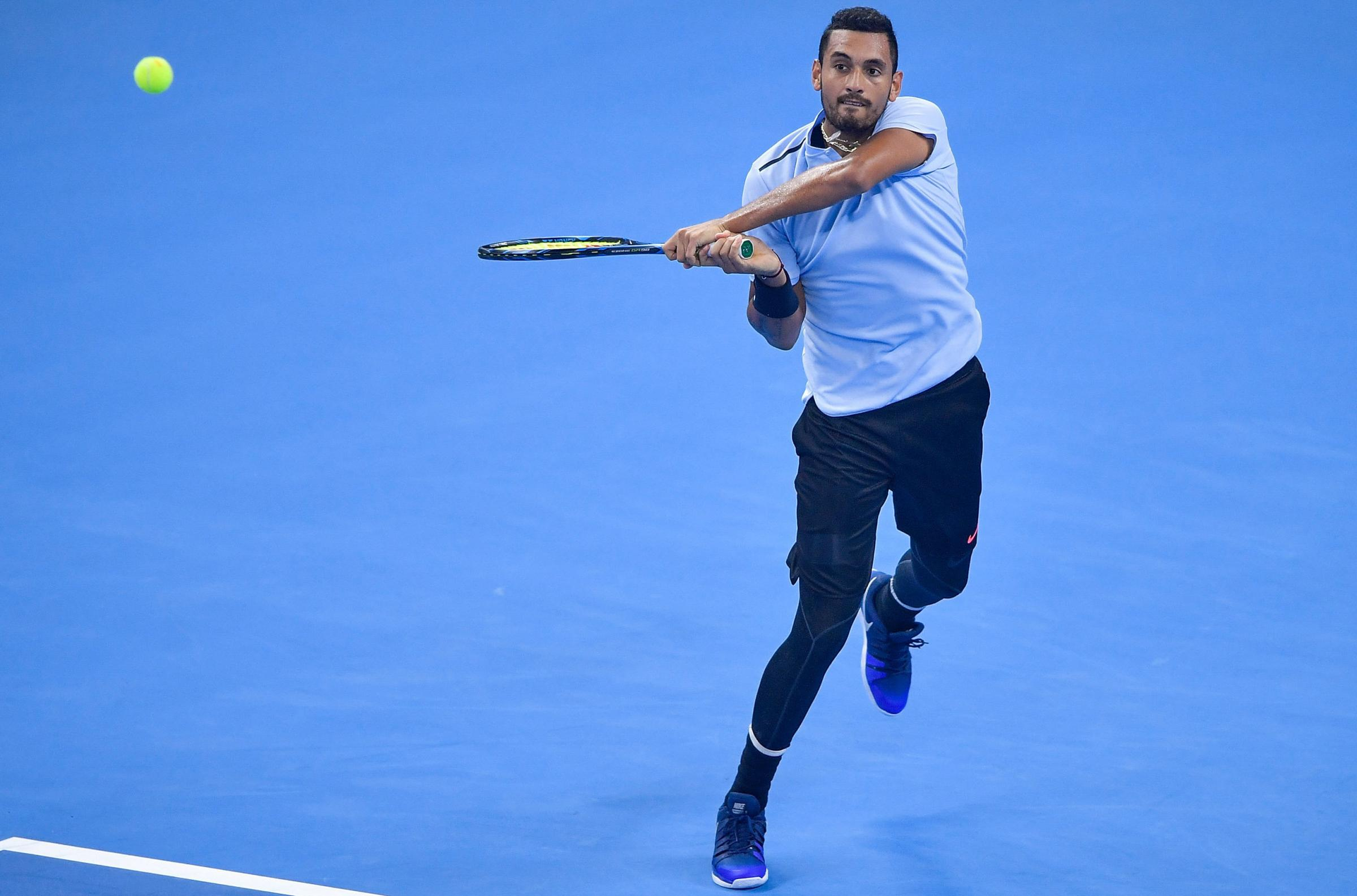 Nick Kyrgios has been fined after he walked off after losing the first set of his match in Shanghai