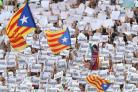Protests on Saturday demanding the release of Jailed Catalan leaders Jordi Sanchez and Jordi Cuixart