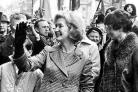 Glasgow-born Winnie Ewing arriving at Westminster in 1967 after her historic by-election win at Hamilton, a key moment for the independence movement