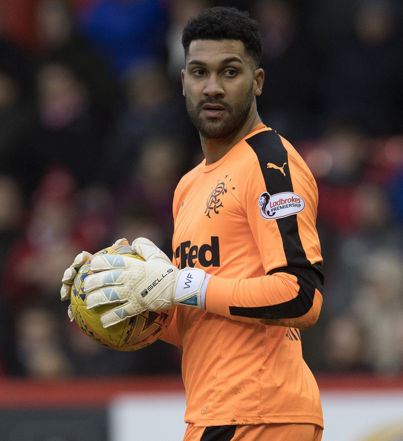 Wes Foderingham in action for Rangers, for whom he signed from Swindon in 2015.