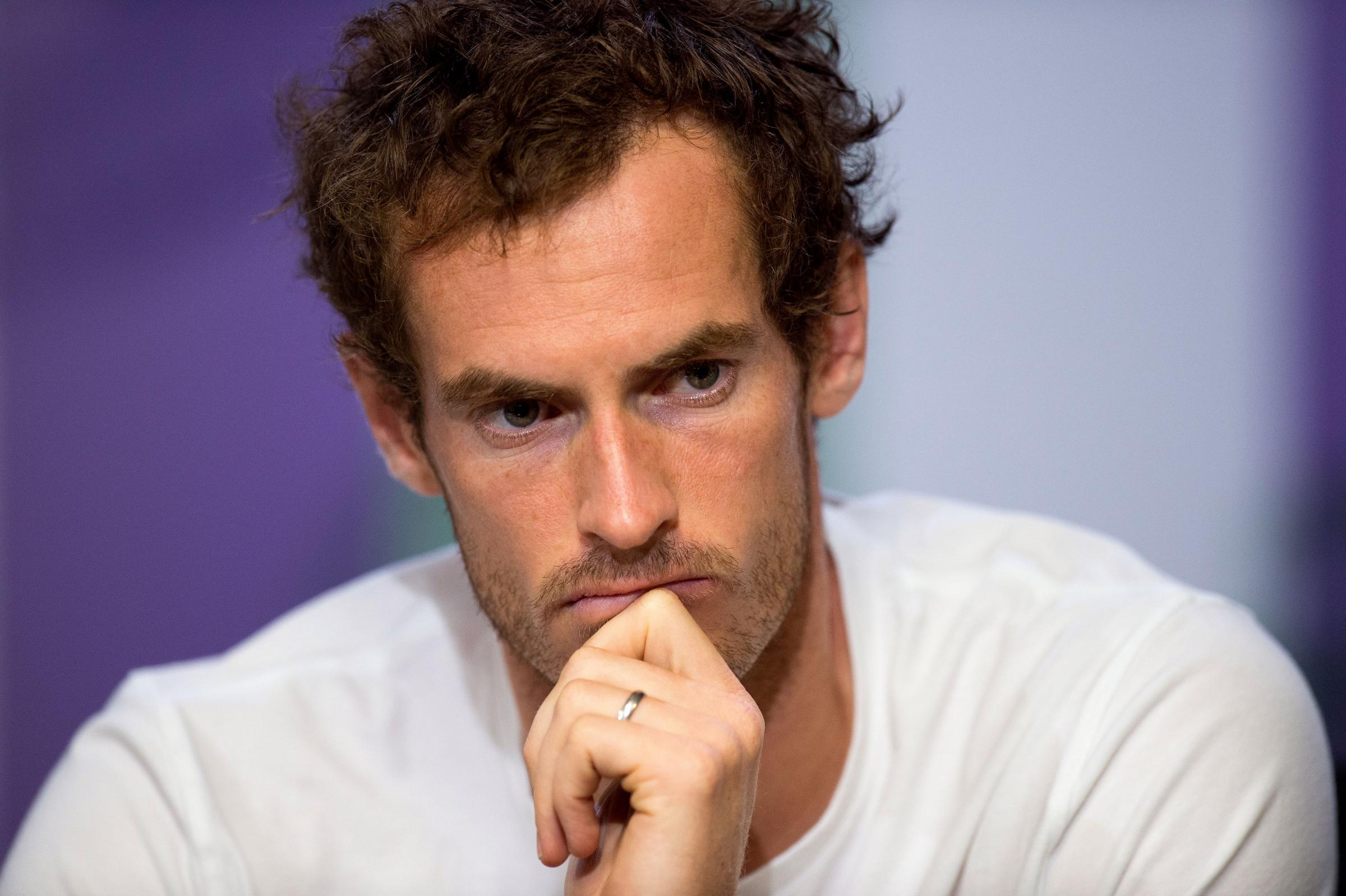 Andy Murray's post on social media appeared to be bracing his supporters for the worst