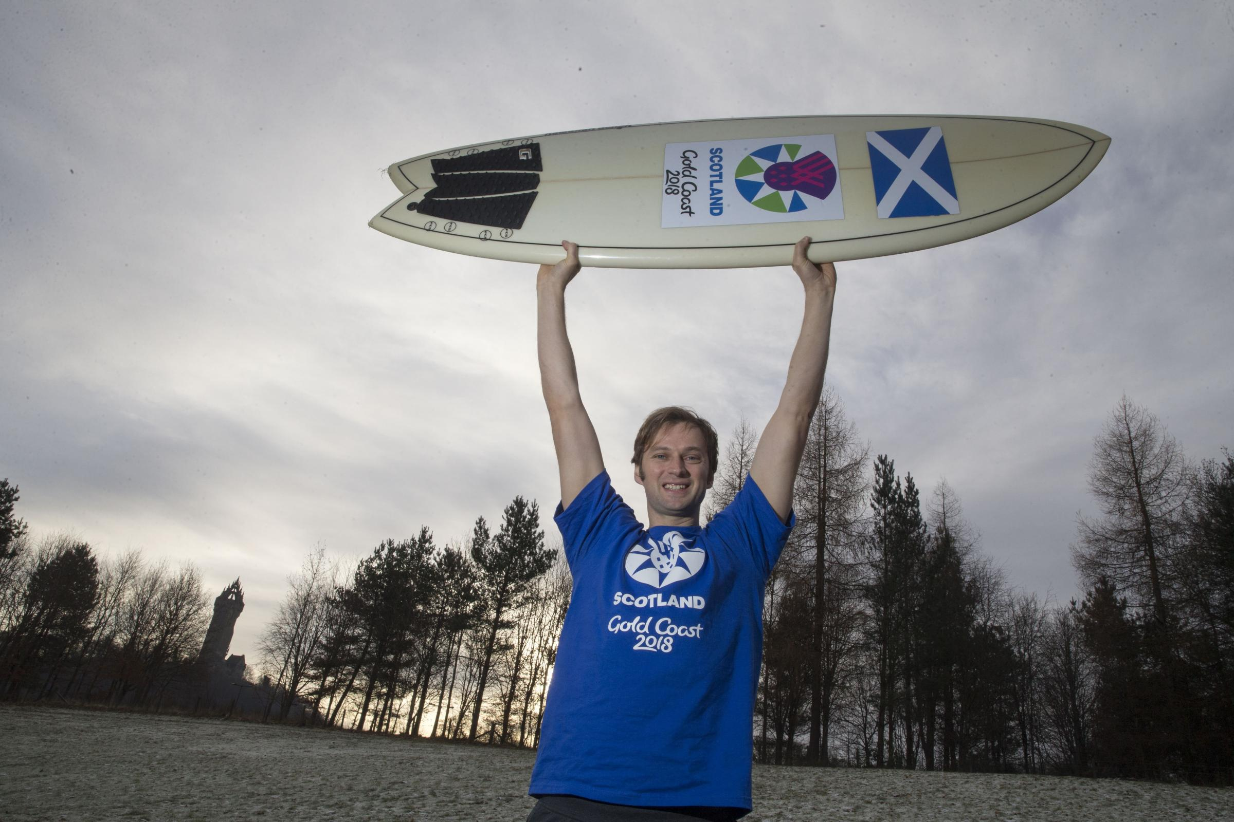 Robin Miezybrodzki is savouring the chance to represent Scotland at the Gold Coast. Picture: Jeff Holmes