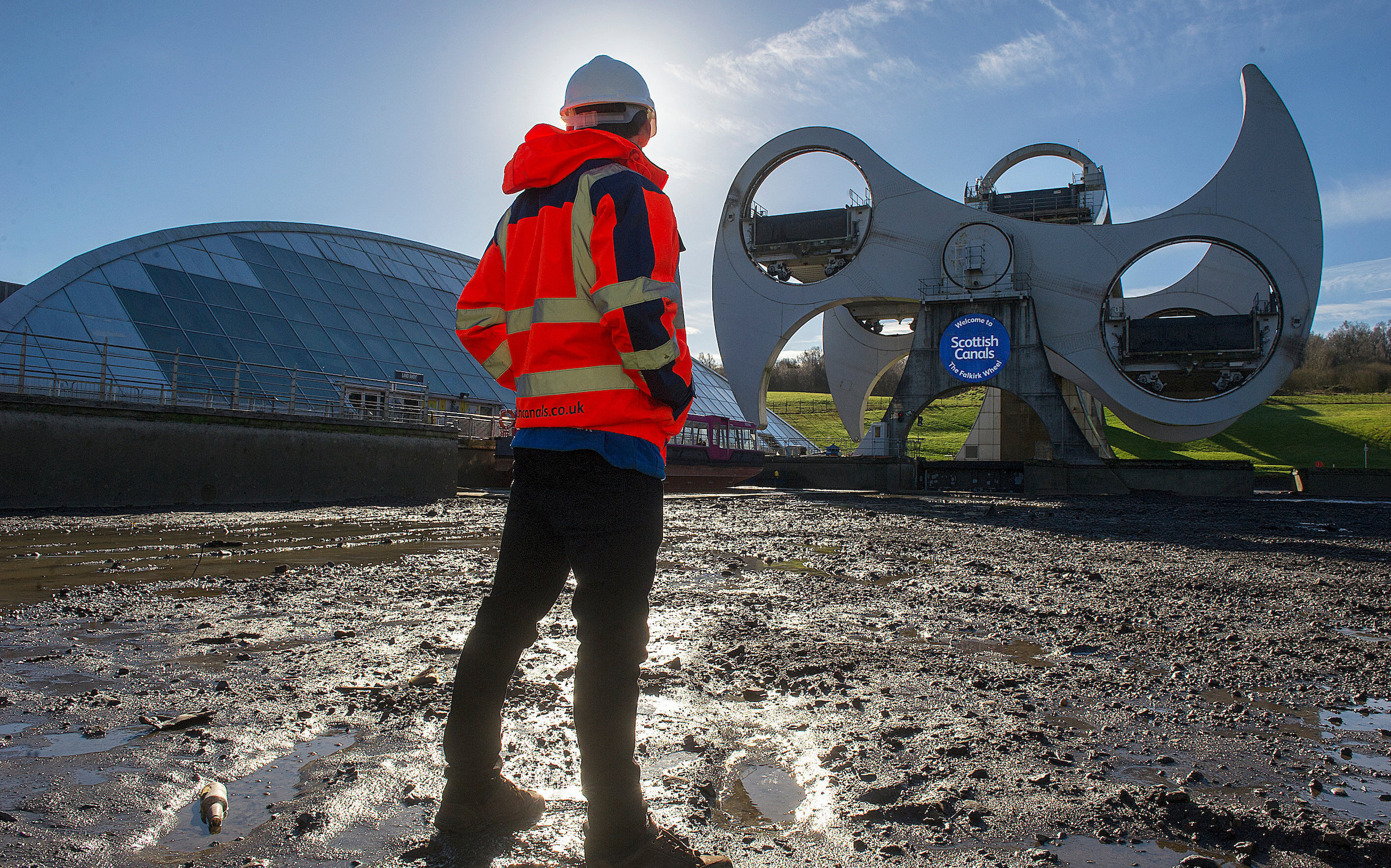 Scottish Canals' engineering team will be working throughout the month to inspect and maintain the Falkirk Wheel
