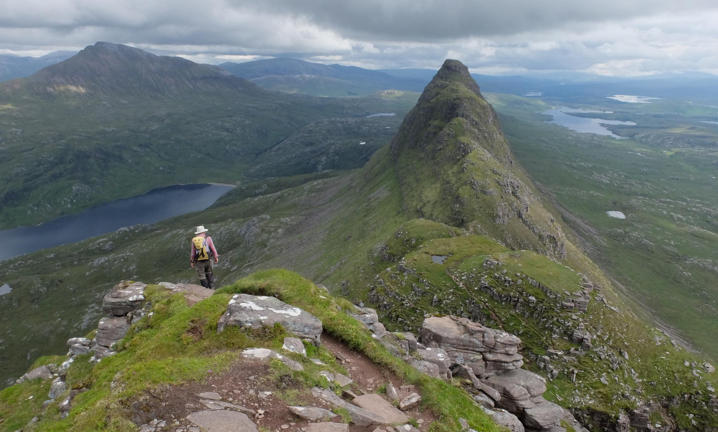 Paul Murton on Suilven in Grand Tours of Scotland's Lochs