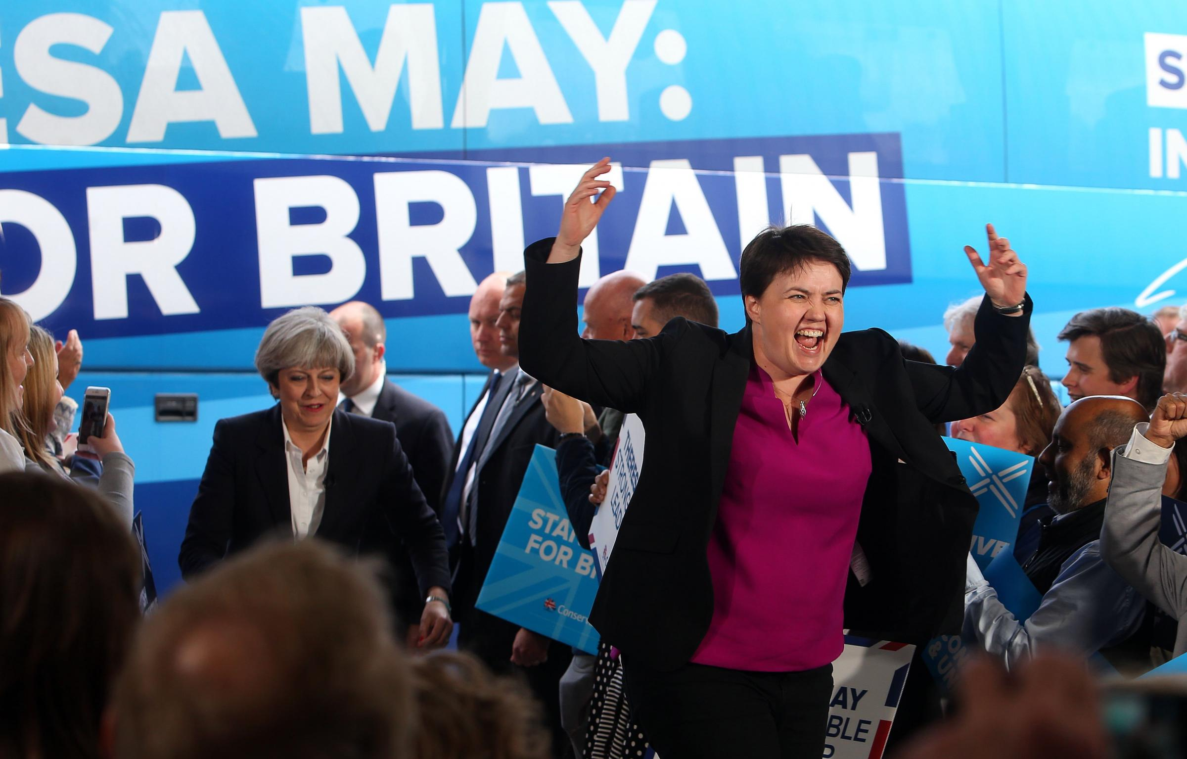 Ruth Davidson has banned some leading Brexiteers from attending the Scottish Tory conference. Photograph: Gordon Terris
