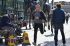 Ewan McGregor on the set of T2 Trainspotting in Edinburgh, with efforts now under way to boost film production in Scotland