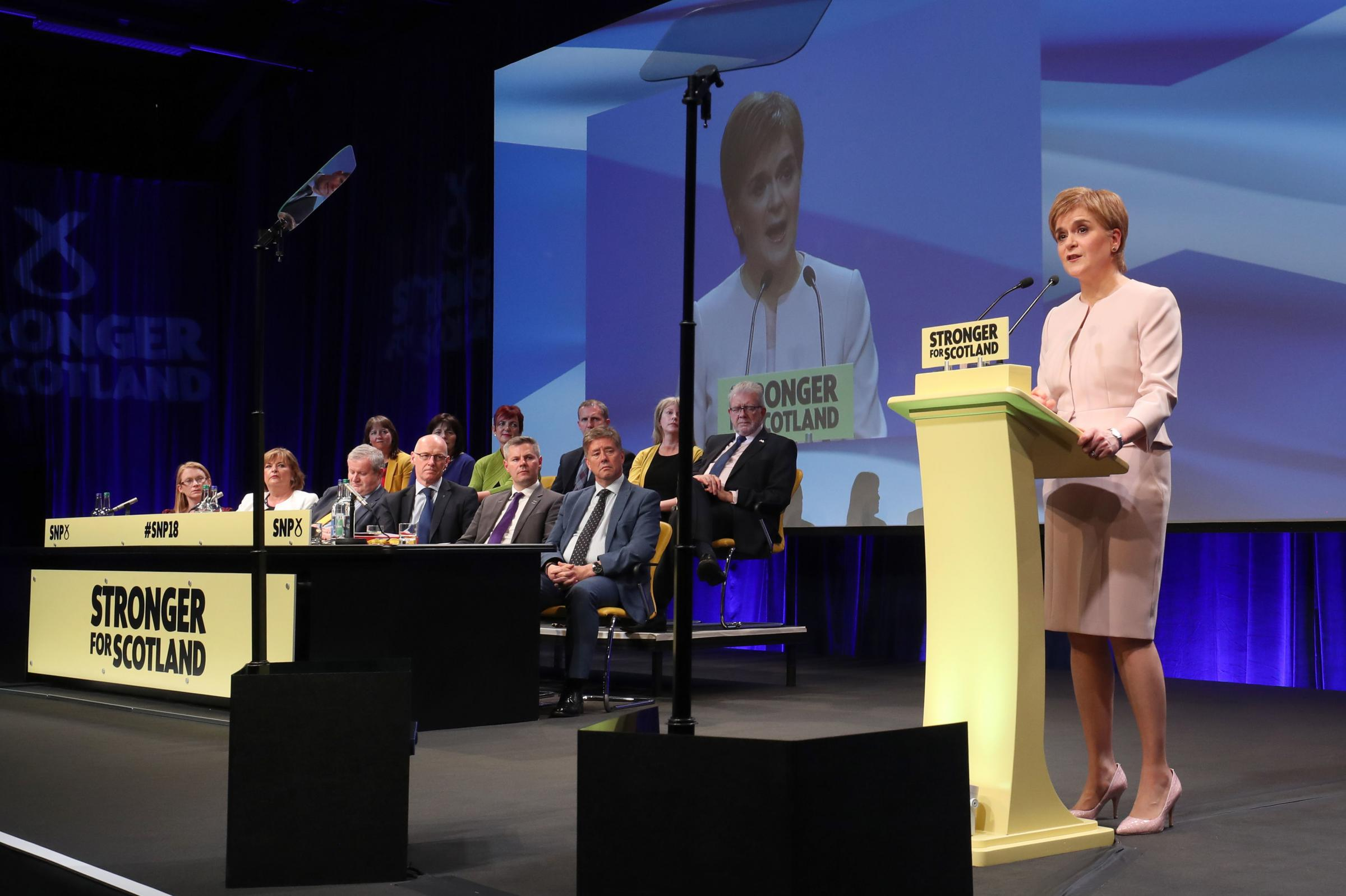 First Minister Nicola Sturgeon at the recent SNP conference in Aberdeen