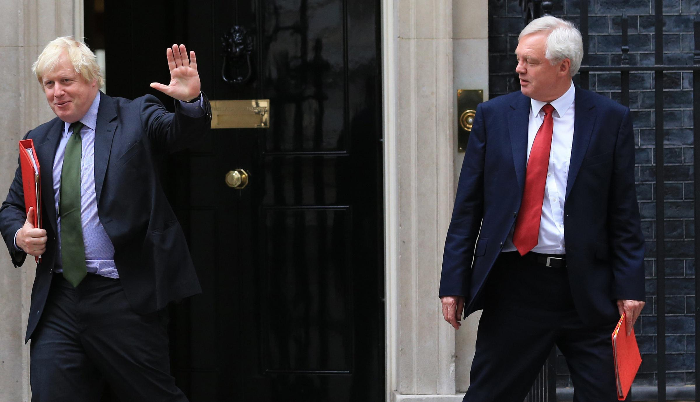 David Davis (right) resigned along with Boris Johnson, the politician with the biggest ego in the UK