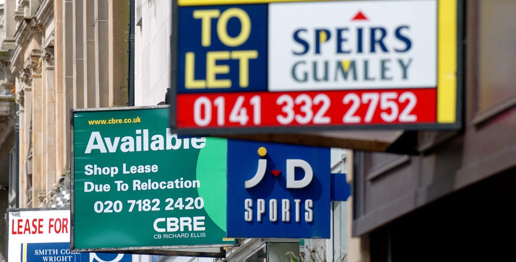 Demand for high street, shopping centre and retail park units is expected to fall as the downturn continues