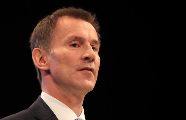 The National: Foreign Secretary Jeremy Hunt. Picture: Peter Byrne/PA Wire