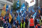 Inverness is the latest host city in a series of pro-independence marches across the nation