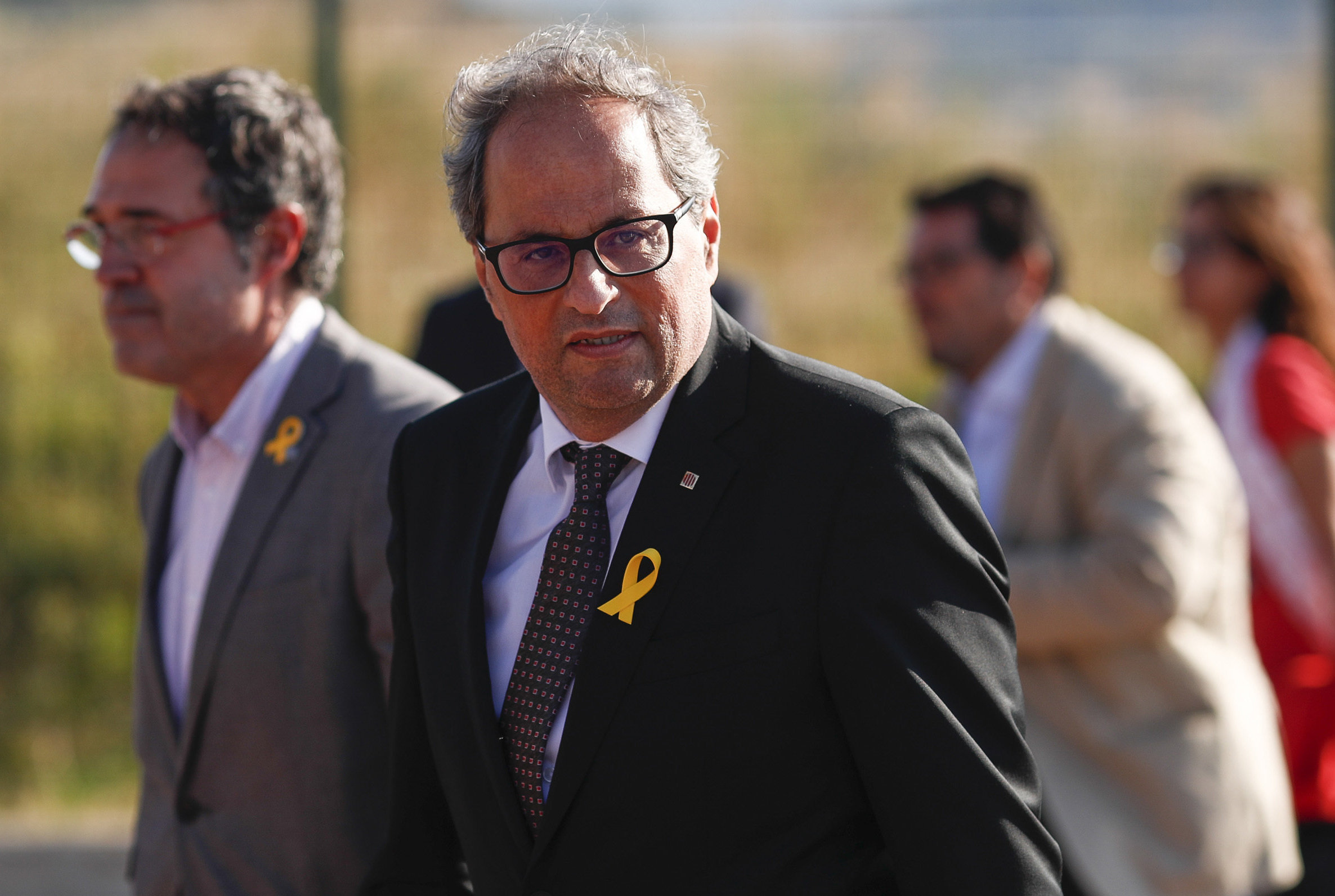 Quim Torra urged the Spanish government to offer independence solutions. Photograph: Getty.