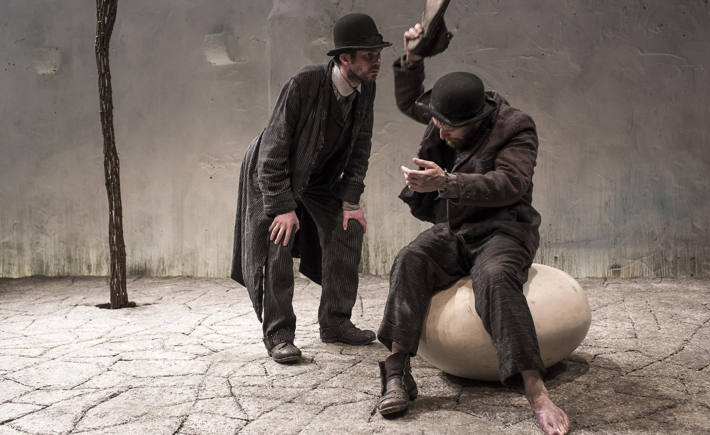 Marty Rea and Aaron Monaghan, above, star in Waiting for Godot by Samuel Beckett and directed by Garry Hynes. Photograph: Matthew Thompson