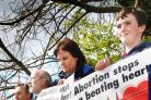 Anti-abortion vigils are seen by a range of patients visiting hospital maternity units