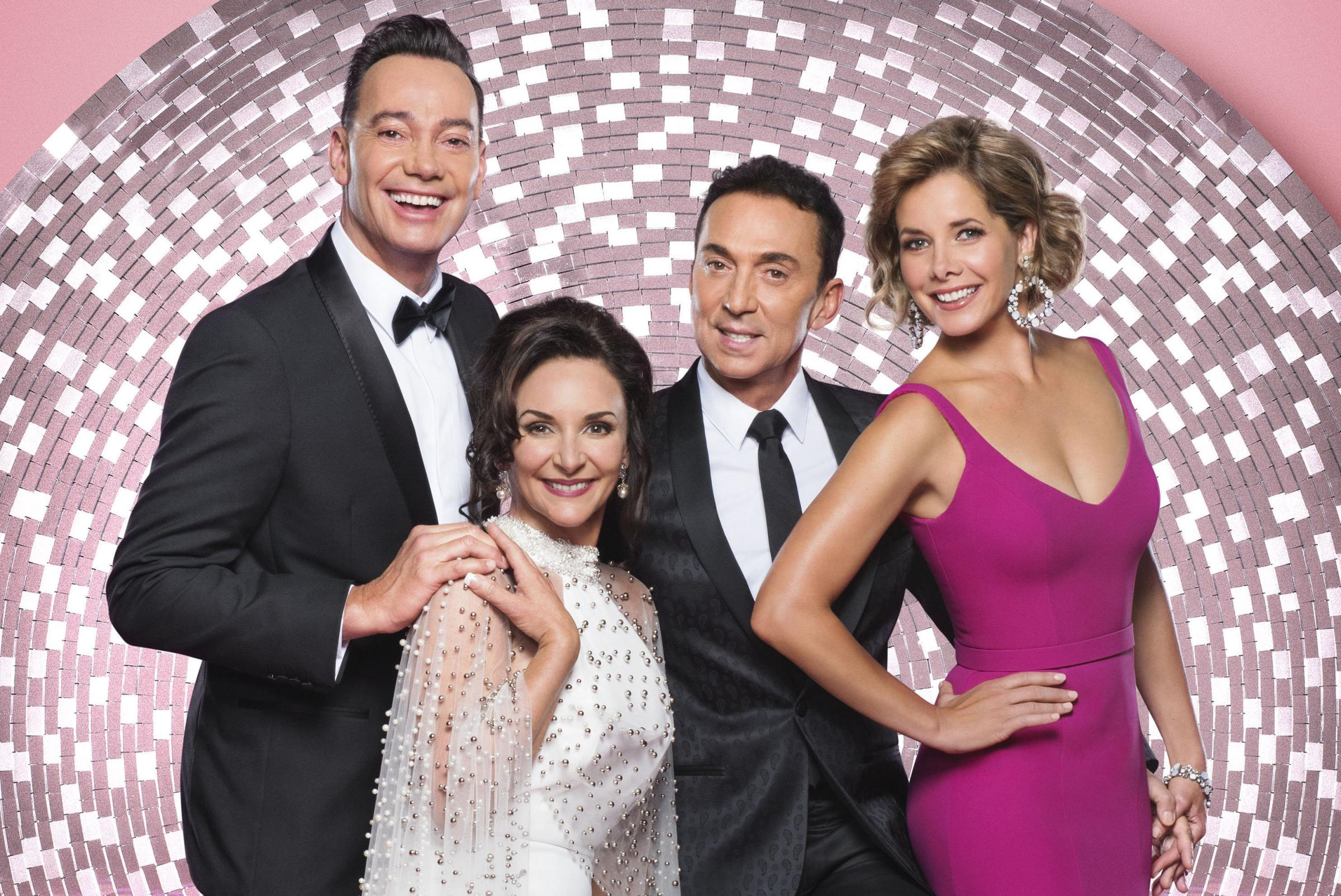 From left to right: Judges Craig Revel Horwood, Shirley Ballas, Bruno Tonioli, and Dame Darcey Bussell return