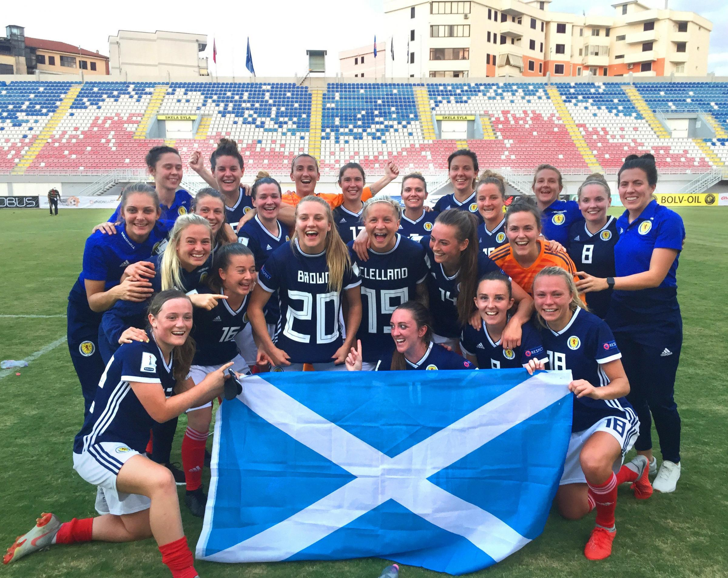 Scotland's women's team qualified for the World Cup on Tuesday